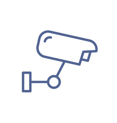 simple line art icon security camera for video vector image
