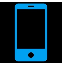 Smartphone flat blue color icon vector image
