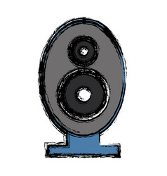 Speaker bass icon vector