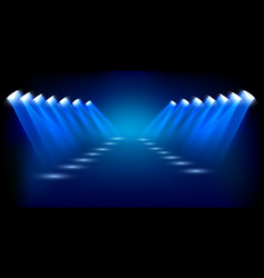 spotlights shining background vector image