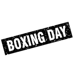 Square grunge black boxing day stamp vector