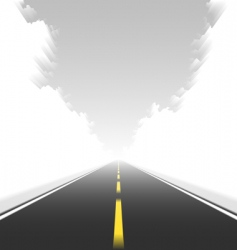 straight road in motion vector image