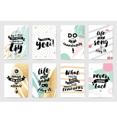 Typography cards set vector