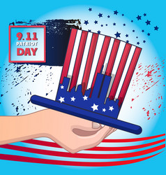 Usa september patriot day concept background vector