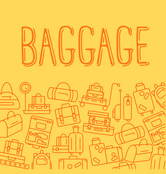 various types of baggage for travel and tourism in vector image