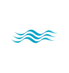water wave icon design vector image