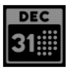 white halftone last year day icon vector image