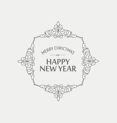 winter holidays monochrome concept vector image