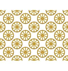 Wooden wheel pattern vector image