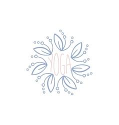Yoga hand drawn label vector