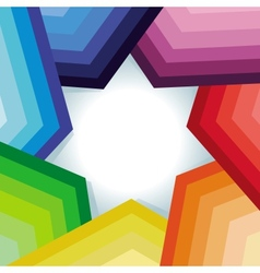 abstract background with rainbow and star vector image vector image