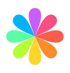 Abstract Geometric Rainbow Flower Logo vector image vector image