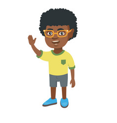 african-american little boy waving hand vector image