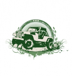 vintage military vehicle vector image vector image