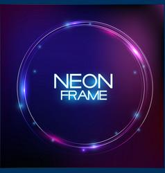 abstract neon finak sale template on dark vector image