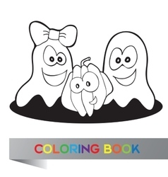Coloring book Halloween vector image vector image