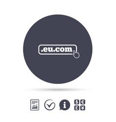 Domain eucom sign icon internet subdomain vector