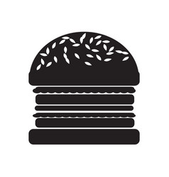 hamburger flat icon vector image