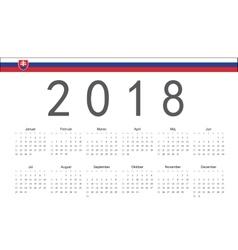 Slovak 2018 year calendar vector image vector image