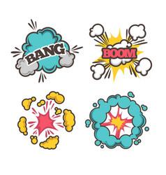 bang and boom signs vector image