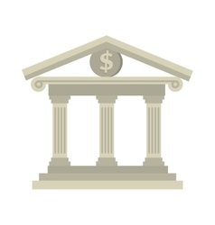 building bank money dollar isolated vector image
