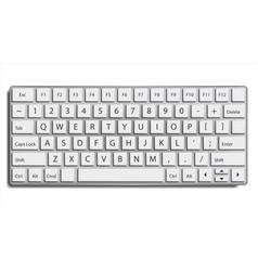 desktop keyboard classic top view modern vector image vector image