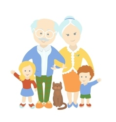 Grandparents day Family Happy cute old couple vector image vector image