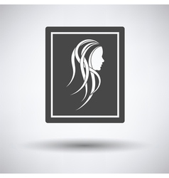 Portrait art icon vector image
