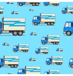 Seamless pattern truck vector image vector image