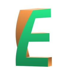 Twisted Letter E Logo Icon Design Template Element vector image