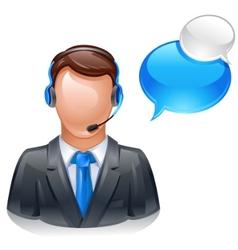 customer service operator vector image vector image