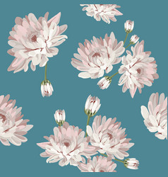 floral seamless pattern with chrysanthemums vector image vector image
