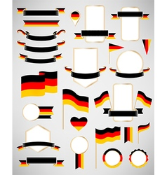 Germany flag decoration elements vector image vector image