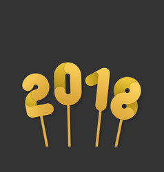 golden 2018 numbers for new year design vector image vector image