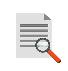 paper document and computer icon vector image vector image