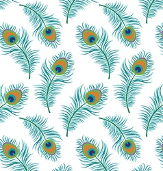 Peacock seamless pattern vector image vector image