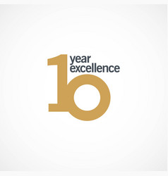 10 year anniversary excellence template design vector