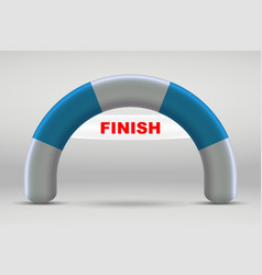 3d inflatable finish line arch vector image