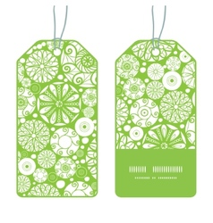 abstract green and white circles vertical stripe vector image