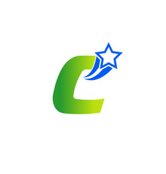 abstract icon based on the letter c set vector image