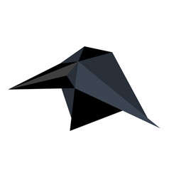 Abstract low poly raven icon vector