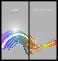 Abstract rainbow technology background template vector image