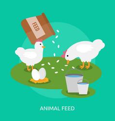 Animal feed conceptual design vector