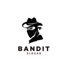 Bandit with bandana scarf mask vector
