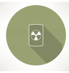 Barrel with hazardous material icon vector