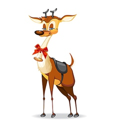 Beautiful Christmas deer vector