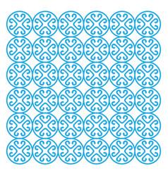 beautiful star flower fabric wallpaper pattern - v vector image