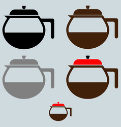 Black coffee maker or container vector