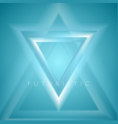 Blue triangles abstract tech futuristic background vector
