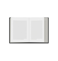 Book paper open or textbook pages with text vector
